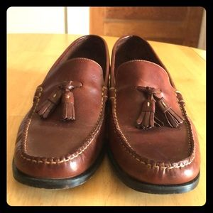 Cole Hann Country Brown Leather Tassel Loafers